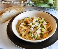 Risotto al pesto di zucchine con verdure   Blog Profumi Sapori & Fantasia