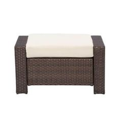 Hampton Bay Beverly Patio Ottoman with Bare Cushion-55-9102332 at The Home Depot