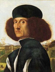 Attributed to Vittore Carpaccio (Italian, 1455-1526) ~ Portrait of a Venetian Nobleman ~ ca.1510 ~ oil on panel ~ The Norton Simon Foundation.