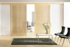 Interior Design Sliding Panel Room Dividers For Interior Room Design With Wooden Japanese Sliding Room Dividers And Black Armchair Also Laminated Wood Flooring Ideas Captivating Minimalist Dining Room Design with Sliding Panel Room Divider Wooden Sliding Doors, Room Interior Design, Minimalist Dining Room, Sliding Doors Interior, Doors Interior, House Interior, Wood Doors Interior, Room Divider Doors, Sliding Room Dividers