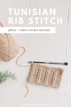Learn how to crochet the Tunisian rib stitch in this brief video tutorial. This type of Tunisian crochet ribbing mimics the look of knitting and is beautiful used as an accent on sweaters or home dec projects. Tunisian Crochet Patterns, Crochet Square Patterns, Crochet Stitches Patterns, Knit Stitches, Stitch Patterns, Lace Patterns, Knitting Patterns, Ribbed Crochet, Crochet Yarn