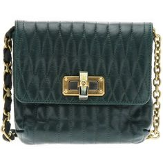 LANVIN green  'Mini Pop Happy' quilted shoulder bag ($1,405) ❤ liked on Polyvore