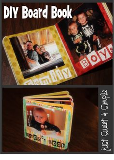 Dollar tree book + mod podge = DIY board book