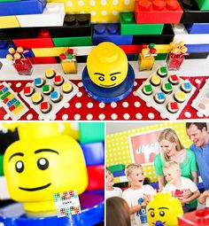 A Modern LEGO Inspired Birthday Party