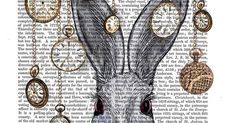 Just Pinned to Alice In Madness: Rabbit Time White Rabbit Alice in Wonderland Print by FabFunky $15.00 http://ift.tt/2rpGKRx