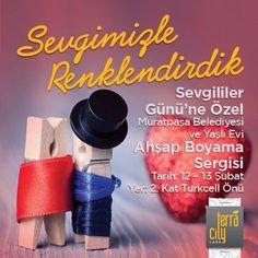 Sevgililer Günü'ne özel Muratpaşa Belediyesi ve Yaşlı Evi Ahşap Boyama sergisi #TerraCity'de!