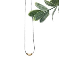 Sterling silver necklace with sparkles of gold filled beads. Semi Precious Beads, Semi Precious Gemstones, Gold Bar Necklace, Gemstone Necklace, Oxidized Sterling Silver, Sterling Silver Necklaces, Precious Metal Clay, Sterling Silver Flowers, Sparkles