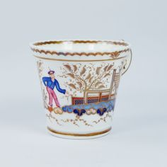Antique Chamberlain Worcester Porcelain Cup Chinese Figure Pattern 767 English Circa 1820 by OneBakerStreet on Etsy