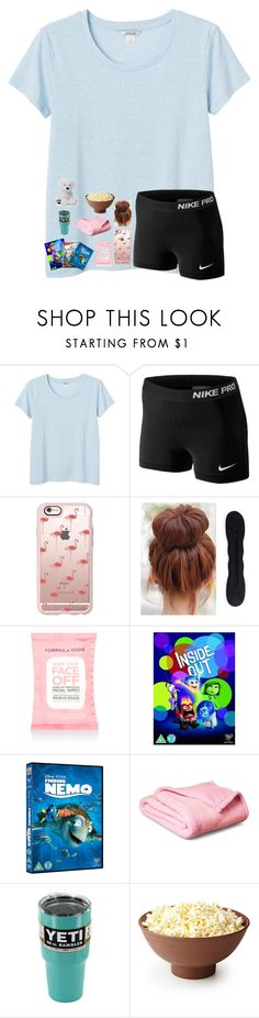 """""""Tired!!"""" by jenna-faith11 ❤ liked on Polyvore featuring Monki, NIKE, Casetify, Accessorize and Gund"""