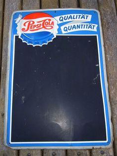 Seltenes Original Altes Blech PEPSI COLA Werbeschild Werbetafel Schild #<