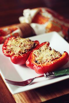 Italian-Style Stuffed Red Peppers - 170 calories