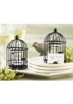 """""""Love Songs"""" tealight place card holders"""