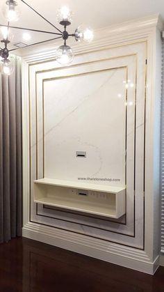 หิน Italia surface รุ่น Ariston งานติดตั้งผนังโชว์ www.thaistoneshop.com