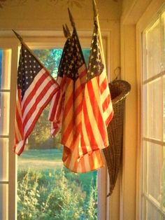 The Pastoral Dollmaker~Christine Crocker: early morning flags