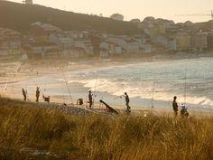 Pescadores na praia de Laxe #Costadamorte