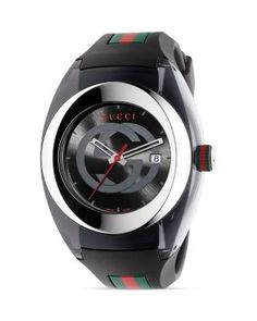 Gucci SYNC Stainless Steel & Black Nylon Watch, 46mm | Bloomingdale's $495