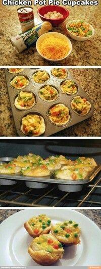 Chiken pot pie muffins basically