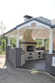 """See our web site for more information on """"outdoor kitchen designs layout"""". It is actually a great location to find out more. Pergola With Roof, Pergola Patio, Backyard Patio, Backyard Landscaping, Pergola Ideas, Outdoor Grill Area, Outdoor Cooking Area, Backyard Kitchen, Outdoor Kitchen Design"""