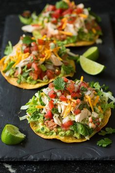 Chicken Guacamole and Bean Tostadas - Cooking Classy