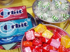 orbit gum, starbursts and starlight mints are all space sounding candy