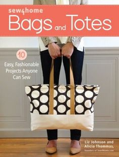 Sew an Easy Leather Tote Bag - Free Tutorial and Lapped Seams