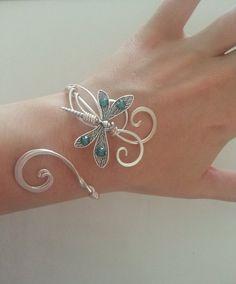 Libélula pulsera para mujer plata regalo por ElvenstarDesign   Supernatural Styl