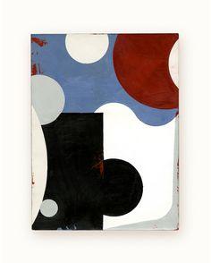 29 / Blazon Series, variation 08 / 2014 / encaustic & alkyd on wood panel / 8 x 6 inches