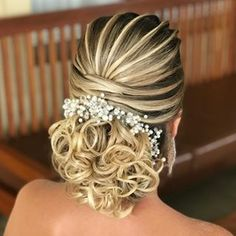 Best Hairstyles for Girls, Hair Transformation Wedding Hairstyles For Women, Cool Hairstyles For Girls, Bride Hairstyles, Vintage Wedding Hair, Hair Transformation, Hair Dos, Bridal Hair, Marie, Curly Hair Styles