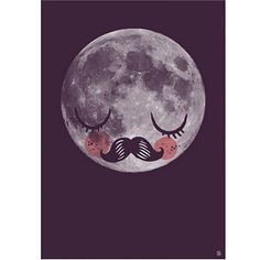 This sweet Moon für Neil poster was dedicated to Neil Armstrong - the first man on the moon - by its illustrator Martin Krusche and has become an icon of sorts. Neil Armstrong, Print Moon, Sweet Moon, Illustrator, Man On The Moon, Poster Prints, Art Prints, Love Illustration, Stars And Moon