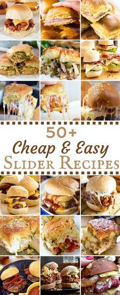 50 Cheap & Easy Slider Recipes. Try them all on Martin's 12 Sliced Potato Rolls!