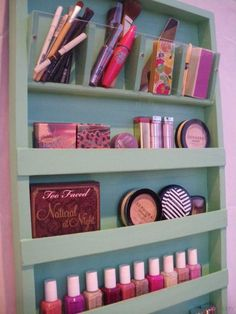 Wooden Makeup Organizer   Organize Your Makeup With These 17 Cool DIY Organizer. From Repurposed Materials That Will Save You A Lot Of Space And Money! by Makeup Tutorials at #woodenmakeuporganizer