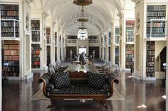 The fifth floor reading room of the Boston Athenaeum