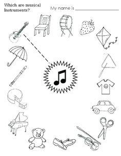 Worksheets For Kids, Kindergarten Worksheets, In Kindergarten, Printable Worksheets, Free Printable, Subtraction Worksheets, Music Lessons For Kids, Music For Kids, Preschool Music Lessons
