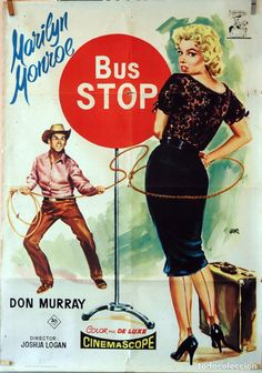 "Marilyn Monroe ""Bus Stop"" Marilyn Monroe Fotos, Marilyn Monroe Movies, Classic Movie Posters, Classic Movies, Old Movies, Vintage Movies, Brigitte Bardot, Classic Hollywood, Old Hollywood"
