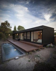 Casa Santa Maria is a minimalist house located in Santa María, Chile, designed by Etcheberrigaray + Matuschka.
