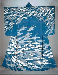 Japan, Yuzen kimono by Uzan Kimura (1891~1977)