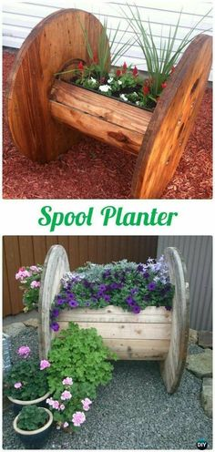 DIY Recycled Wood Cable Spool Furniture Ideas Projects & Instructions DIY Wood Spool Planter Wood Wire Spool Recycle Ideas The post DIY Recycled Wood Cable Spool Furniture Ideas Projects & Instructions appeared first on Wood Diy. Diy Planters, Garden Planters, Planter Ideas, Garden Bed, Recycled Planters, Pallet Planters, Rain Garden, Flower Planters, Recycler Diy