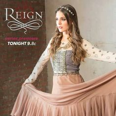 Reign {love the full-length embellished dresses and long, wavy, braided hair and hair pieces}