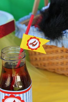 Wizard of Oz Party  Straw Flags or Toothpick by KROWNKREATIONS, $2.99