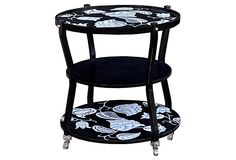 Bleeker Side Table, Black on OneKingsLane.com by Steven Shell