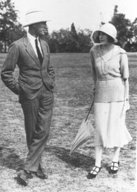 Lord Louis Mountbatten and Edwina Ashley in India 10th feb 1922