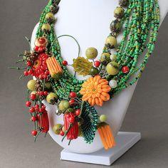 Sale  15 % OFF Lampwork Necklace Lampwork by JewelryBeadsByKatie