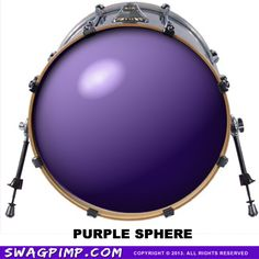 Drum Decal Band Swag Merch Music Instruments Bass Head Purple Sphere Your Band Name Here Custom