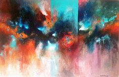 Turquoise Art Abstrait, Illustrations, Abstract Art, Turquoise, Painting, Painting Abstract, Abstract, How To Paint, Acrylic Paintings