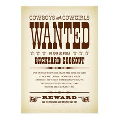 =>>Save on          	Western Wanted Poster Party Invitations           	Western Wanted Poster Party Invitations Yes I can say you are on right site we just collected best shopping store that haveDiscount Deals          	Western Wanted Poster Party Invitations please follow the link to see full...Cleck Hot Deals >>> http://www.zazzle.com/western_wanted_poster_party_invitations-161190402714500960?rf=238627982471231924&zbar=1&tc=terrest