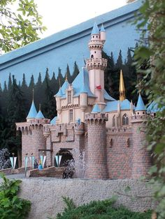 Backyard railroad modeled after Disneyland at a home in Anaheim-- The fairies are my favorite detail!
