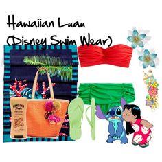"""Hawaiian Luau (Disney Swimwear)"" by amieebee on Polyvore"