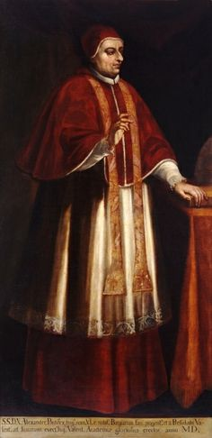 Rodrigo Borgia (Pope Alexander VI)  Doesn't look much like Jeremy Irons, does he?