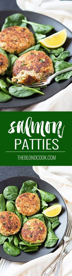 Quick and Easy Salmon Patties - These make a great meal and are prepared in less than 20 minutes! These easy salmon patties made with canned salmon, saltine crackers, onion, green pepper and seasonings are a quick and budget-friendly dinner! Salmon Recipes, Fish Recipes, Seafood Recipes, Dinner Recipes, Cooking Recipes, Healthy Recipes, Ketogenic Recipes, Fish Dishes, Seafood Dishes
