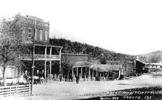 SNAPSHOT IN TIME: L-R: The Empire hotel and the Shasta County Courthouse in Shasta is pictured on this circa 1870 post card. The hotel was owned and operated by pioneer John Varner Scott. Shasta Dam, Local History, Family History, Empire Hotel, El Dorado County, Sunken City, Red Bluff, Historical Society, Photo Archive